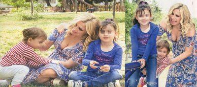 Κατερίνα Καραβάτου: Με την 7χρονη Αέλια και τον 2χρονο Αρίωνα στην παιδική χαρά!